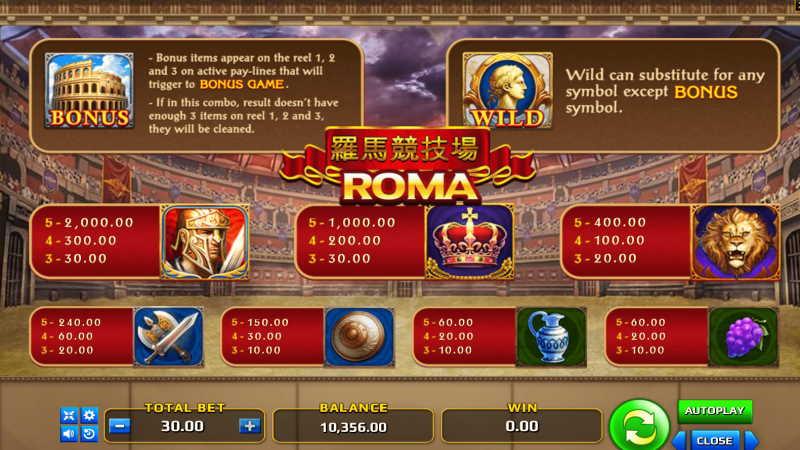 เกม โรม่า-roma slot-gclub-